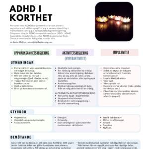 ADHD i korthet